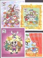 WALT DISNEY MiNr. 2343 - 2346 (Block 327-330) Malediven  Donald Duck  MNH / ** / POSTFRISCH - Disney