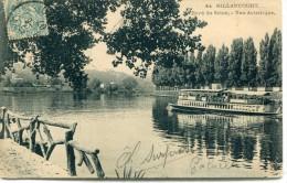 CPA 92  BILLANCOURT BORD DE SEINE VUE ARTISTIQUE 1907 - Boulogne Billancourt