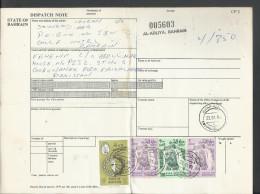 1976-80 Sheik Isa 2d Rose & Vio, Scott # 239, 300f Lt Grn & Grn,  50% Off Catalogue Value, Bahrain Parcel Card - Bahrain (1965-...)