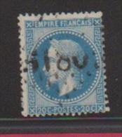 20 Centimes Bleu //N 29  //  Cachet 3180  // Rodez - 1863-1870 Napoléon III. Laure
