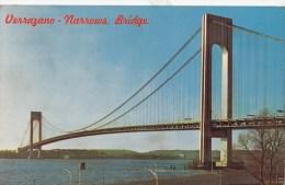 P4323  The Verrazano Narrows Bridge New York   USA  Front/back Image - Ponts & Tunnels