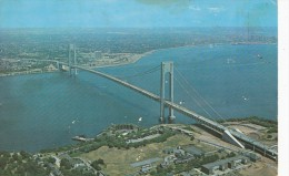 P4322 Named After  The Verrazano Narrows Bridge New York   USA  Front/back Image - Ponts & Tunnels