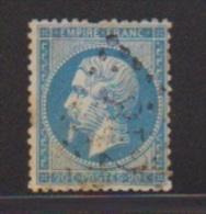 20 Centimes Bleu //N 22  //  Cachet 842  // Châlon Sur Saone - 1862 Napoleon III
