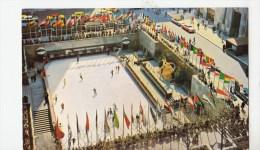 P4114 Rockefeller Plaza Skating Rink New York City Front/back Image - Places & Squares