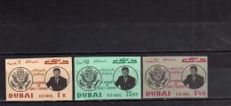 EMIRATI ARABI UNITI - UNITED ARAB EMIRATES 1964 DUBAI MEMORIAL PRESIDENT KENNEDY DEATH ANNIVERSARY 1963 IMPERF. MNH - Dubai
