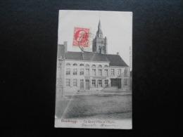 CPA - BELGIQUE : ROUSBRUGGE - La Grand'Place Et L'Eglise - Sonstige