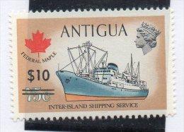 Sello Nº 360 Antigua - Barcos