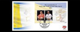 Malta 2014 - The Canonisation Of Pope John XXIII & Pope John Paul II FDC - First Day Cover - Papas