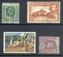 ST LUCIA, Postmarks SOUFRIERE, VIEUX FORT, CASTRIES - St.Lucia (...-1978)