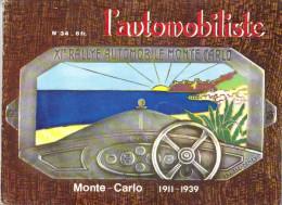 Revue L´Automobiliste Numéro 34  -  Couverture -  Plaque Du XIème Rallye Monte-Carlo 1932 - Auto/Moto