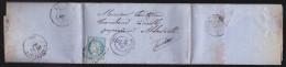 France - Lettre N° 60 Obl. 1871 - PC / Belfort / Bureau De Passe 1307 / Macon / Albertville - 1849-1876: Klassik