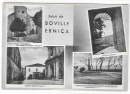 LAZIO-FROSINONE- BOVILLE ERNICA PIAZZA S.ANGELO VEDUTE MULTIPLE E SALUTI DA - Italia