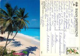 Bottom Bay, Barbados Postcard Posted 1990 Stamp - Barbados