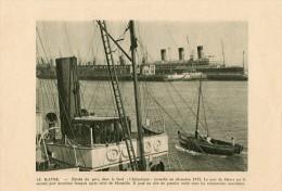 LA HAVRE..FACE A..L ATLANTIQUE Incendie En 1932..FACE B Vue De Ste Adresse....feuille Format15x21.5.. - Alte Papiere