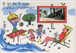 CPSM 53 VILLIERS CHARLEMAGNE IL FAIT BON SE REPOSER   Grand Format 15 X 10,5 - France