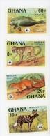 Ghana -1977-WWF-Singe,lamantin Et Autres.MI 702/5***MNH - Timbres