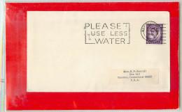 GREAT BRITAIN  -   PLEASE  USE  LESS  WATER  -  NORTHAMPTON - Protection De L'environnement & Climat