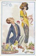 $3- 2983 - Illustratore VanDock - Van Dock - Pubblicitaria Profumi Viset  - F.p. Non Viaggiata - Altre Illustrazioni