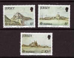 GB JERSEY - 1978 EUROPA CEPT FORTIFICATIONS SET (3V) FINE MNH ** - Jersey
