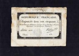 Assignat De 250 Livres- 4 Beaux Bords - Assignats & Mandats Territoriaux