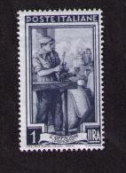 Timbre Neuf Italie, L´officina (Piemonte), 1 Lire, 1950 - Jobs