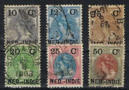 Seis Sellos  India Holandesa, Nederland Indie, Num 31-36  º - Indes Néerlandaises