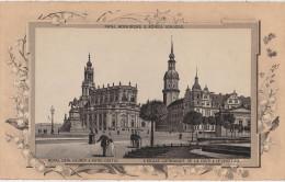 Stich Ansicht Dresden Katholische Hofkirche Und Schloss Ca. 21 X 13 Cm - Lithographien