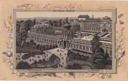 Stich Ansicht Dresden Königlicher Zwinger Ca. 21 X 13 Cm - Lithographien