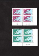 Cote : 20 € - 2 Coins Datés - SERVICE  N° 106 107 ** SUPERBE - Servizio