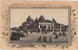 Stich Ansicht Dresden Ausstellungspalast Strassburger Platz Grosser Garten Strassenbahn Ca. 21 X 13 Cm - Lithographien