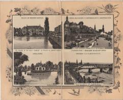 2 X Stich Ansicht Dresden Palais Grosser Garten Carolasee Albertbrücke Belvedere Landungsplatz Jeweils Ca. 21 X 13 Cm - Lithographien