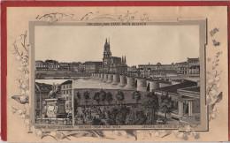 Stich Ansicht Dresden Von Gasthaus Stadt Wien Gesehen Narrenhäusl ? Denkmal August Starke Ca. 21 X 13 Cm - Lithographien