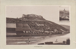 Stich Ansicht Wettinsäule Lilienstein Dampfer Bei Königstein Ca. 19 X 13 Cm Sächsische Schweiz - Lithographien