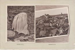 Stich Ansicht Amselfall Hohnstein Sächsische Schweiz Ca. 19 X 13 Cm Sächsische Schweiz - Lithographien