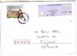 GOOD FRANCE Postal Cover To ESTONIA  2014 - Good Stamped: Merval - France