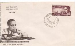 INDIA 1966 FDC - Dr. Homi Bhabha - - FDC