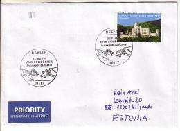 GOOD GERMANY Postal Cover To ESTONIA  2014 - Good Stamped: Stolzenfels Am Rhein - Briefe U. Dokumente