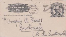 CUBA 1920 - Un Centavo Ganzsache Pk Von Habana > Guatemala - Kuba