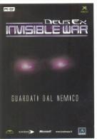 PROMOCARD N°  4276  DEUSEX INVISIBLE WAR - Publicité