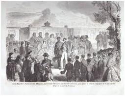 GRAVURE D Epoque   1864 Espagne Valdemoro  La Jeune Garde - Vieux Papiers