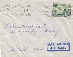 MADAGASKAR 1957 - 20 F Sondermarke Auf Brief Von Madagaskar > Montreuil - Madagaskar - Sainte-Marie (1894-1898)