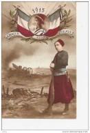 PATRIOTIQUE 1915 HONNEUR AUX ZOUAVES,FUSIL ,A VOIR ,COULEUR REF 4136 - Regimientos