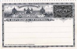 GUATEMALA 1897 - Doppelkarte Mit Je 3 Centavos Ganzsache Nicht Gelaufen - Guatemala