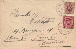 BELGIEN 1932 - 75c + 1F Auf Brief Von Vilvorde > Wien - Belgien