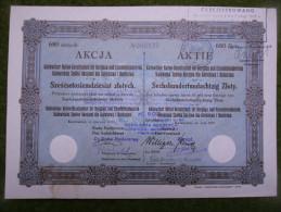 A2676) Aktie Kattowitzer AG Für Bergbau Oberschlesien 680 Zl Von 1929 - Mineral