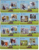 T04144 China Phone Cards Tintin 8pcs - Cómics