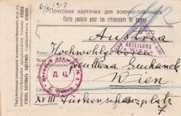 Carte Postale D´un Prisonnier De Guerre Autrichien En Russie  (Omsk) En Novembre 1916 - Marcophilie (Lettres)