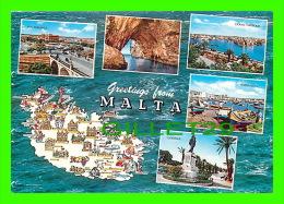 MALTE- MALTA - 6 MULTIVUES + CARTE GÉOGRAPHIQUE -  JOSEPH CALLEJA - - Malte