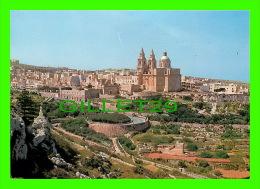 MALTE- MALTA - VIEW OF MELLIENA VILLAGE & PARISH CHURCH  -  PERFECTA ADVERTISING LTD - - Malte