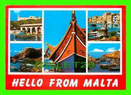 MALTE- MALTA - HELLO FROM MALTA - 5 MULTIVUES -  PERFECTA ADVERTISING LTD - - Malte